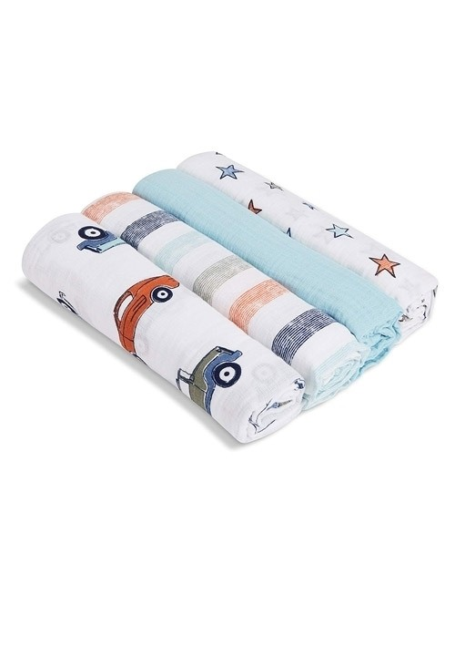 Aden + Anais Swaddleplus 4-Pack - Hit The Road
