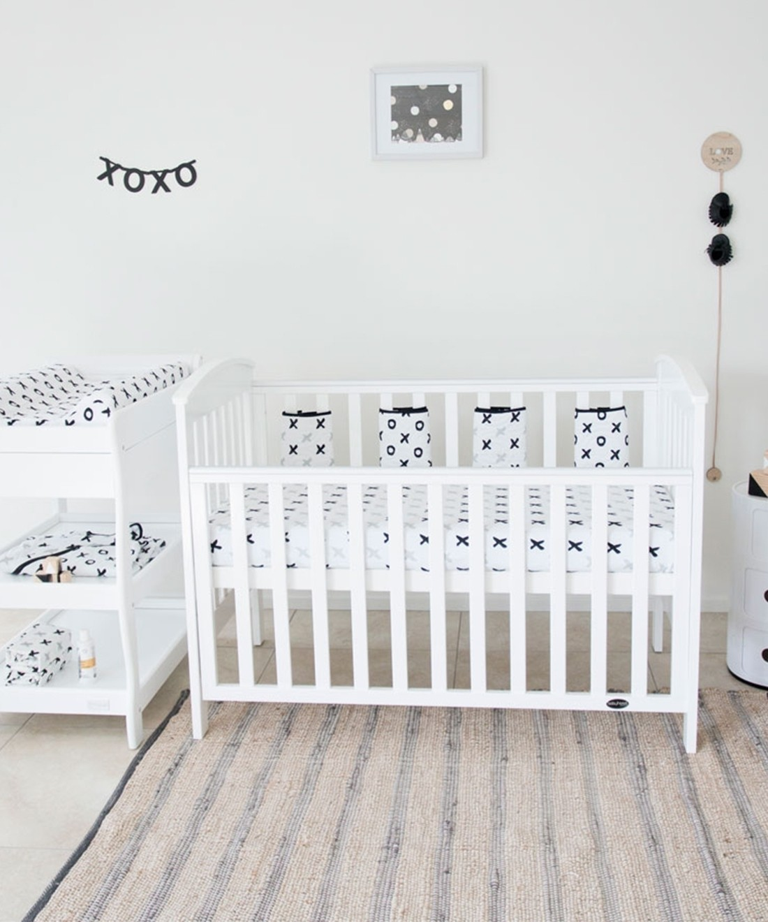 Babyhood Classic Curve Cotbed Complete Set