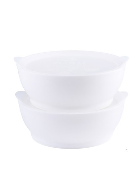 Elipse Kids Stage 2 Spill -Proof Bowl With Lid - White