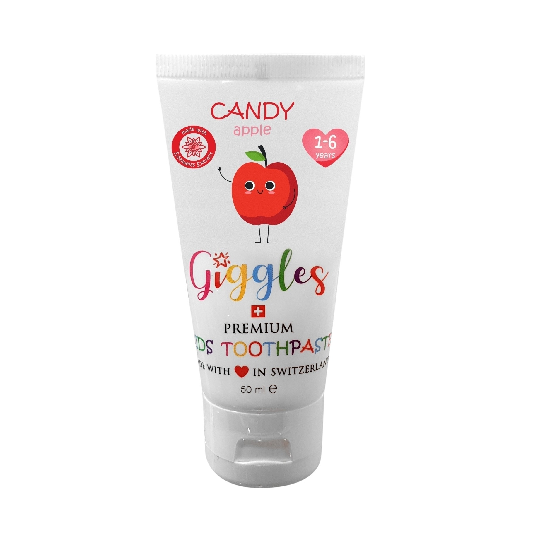 Giggles Toothpaste 50ml Candy Apple - 1-6yr