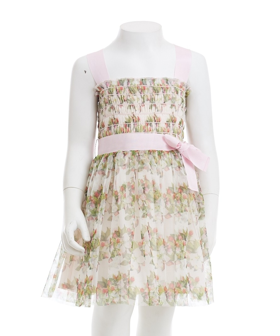 Gingersnaps Smocked Strappy Tulle Dress