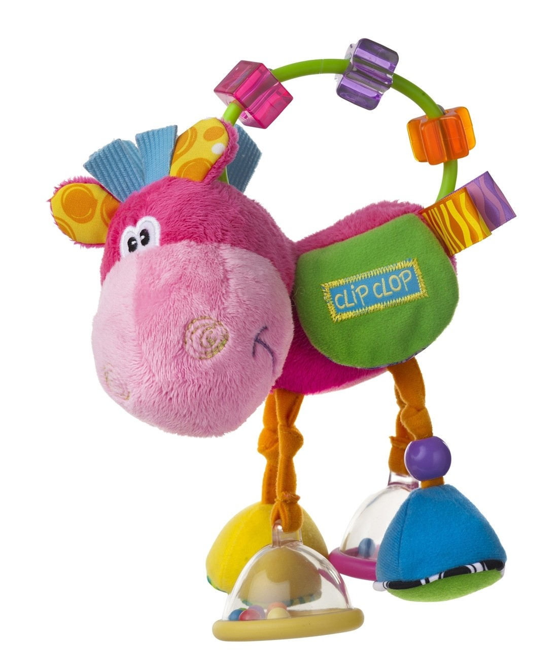 Playgro Clip Clop Activity Rattle - Pink