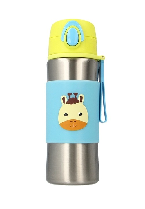 Snapkis Insulated Spout Bottle 340ml - Giraffe