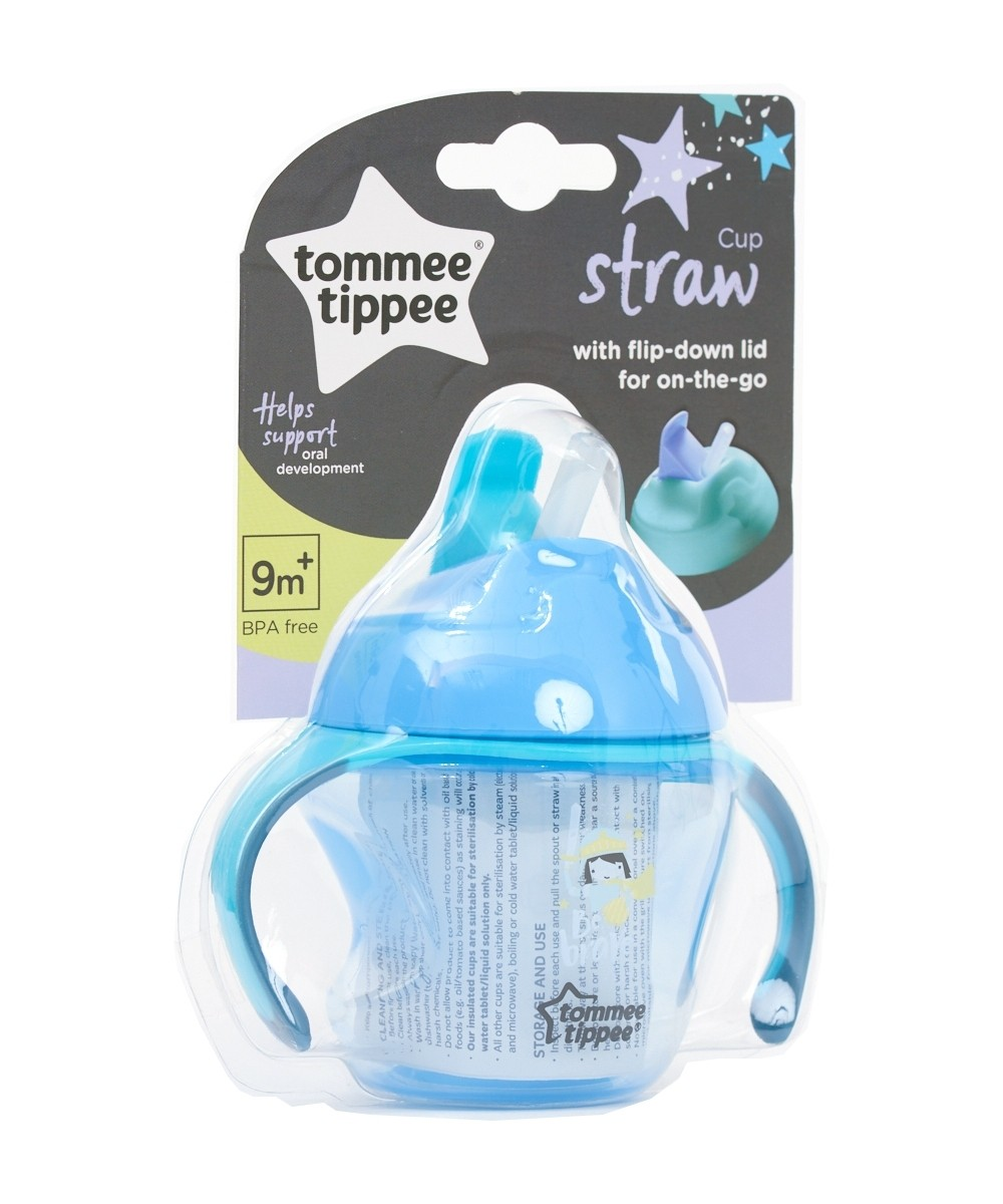 Tommee Tippee First Straw Cup 150ml, 9m+ - Blue
