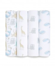Aden+Anais Essential Muslin Swaddle 4pk - Natural History