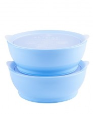 Elipse Kids Stage 2 Spill -Proof Bowl With Lid - Light Blue