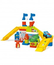 Mega Bloks Race Car Garage Bricks