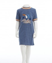 Gingersnaps Blue Toucan Appliques Terry Dress