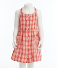 Gingersnaps Strappy Grid Apron Dress