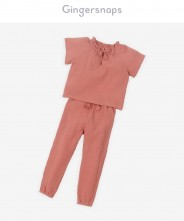 Gingersnaps Double Faced Shortsleeves Tee And Pants Set
