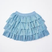 Gingersnaps Pleated Lame Tiered Skirt