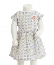 Gingersnaps Peach Embroidery Patch Star Printed Dress