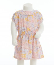 Gingersnap Floral Print Continuous Sleeves Dress
