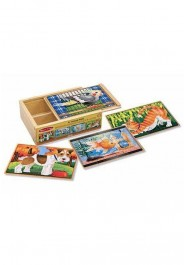 Melissa & Doug Jigsaw Puzzles in a Box - Pets