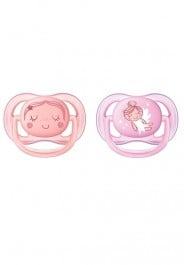 Philips Avent 2 Pack Ultra Air Soother 0-6m - Girl
