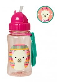 Skip Hop Straw Bottle 350ml - Llama