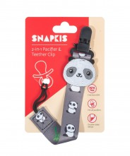 Snapkis 2in1 Pacifier & Teether - Panda