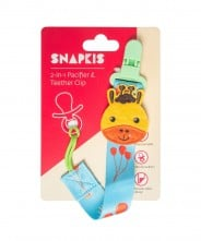Snapkis 2-in-1 Pacifier & Teether Clip - Giraffe