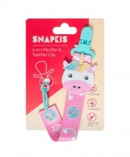 Snapkis 2-in-1 Pacifier & Teether Clip - Unicorn