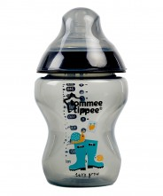 Tommee Tippee Closer to Nature Decorated 260ml Bottle - Black (1 Pack)