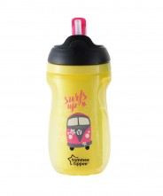 Tommee Tippee Insulated Active Straw Cup 12m+ - Yellow