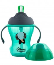 Tommee Tippee Easy Drink 2 Stage Cup 230ml 7mths+ - Green