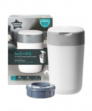 Tommee Tippee Sangenic Twist & Click Nappy Disposal Bin - White