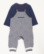 Mothercare Star Knitted Dungarees And Bodysuit Set