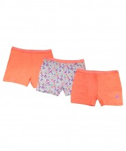 Mothercare Coral Floral Short Briefs - 3 Pack