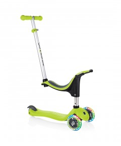 Globber Evo 4 In 1 Lights Scooter - Lime Green