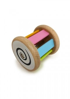 Early Learning Centre Wooden Jingle & Roll Rattle