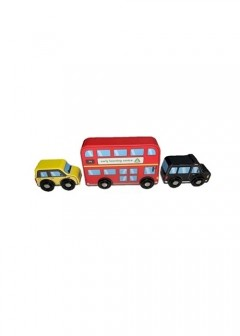 Early Learning Centre Wooden London Vehicle Set