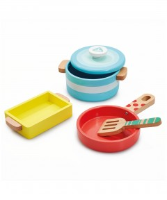 Early Learning Centre Wooden Pots & Pans