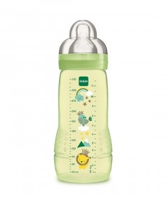 MAM Anti-Colic Bottle 330ml, Silk Teat Size 3 - 1 Pack