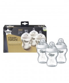 Tommee Tippee Closer to Nature Easivent 260ml Bottles - 3 Pack