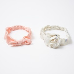 Gingersnaps Big Floral & Knotted Bow Turban - 2 Pack