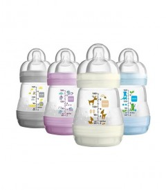 MAM Anti-Colic Nature Meadow 160ml, Teat Size 1 - Twin Pack
