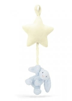Jellycat Bashful Bunny Star Musical Pull - Blue