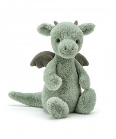 Jellycat Bashful Mint Green Dragon - Medium