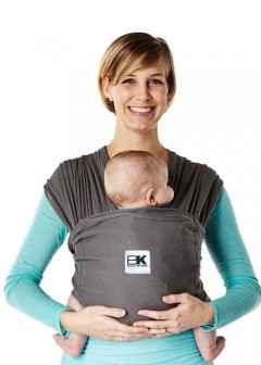 Baby K'Tan Breeze Charcoal Baby Carrier - M