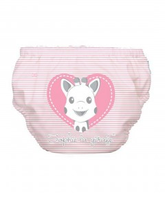 Charlie Banana Swim Diaper & Training Pants Sophie Pencil Pink Heart - XL