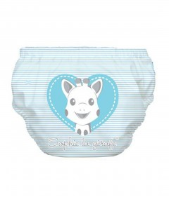 Charlie Banana Swim Diaper & Training Pants Sophie Pencil Blue Heart - L