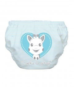 Charlie Banana Swim Diaper & Training Pants Sophie Pencil Blue Heart - XL