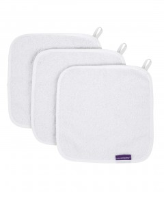 Clevamama Bamboo Face Cloth - White