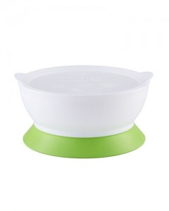 Elipse Kids Stage 2 Spill -Proof Bowl With Lid Suction - Green