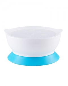 Elipse Kids Stage 2 Spill -Proof Bowl With Lid Suction - Blue