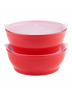 Elipse Kids Stage 2 Spill -Proof Bowl With Lid - Red