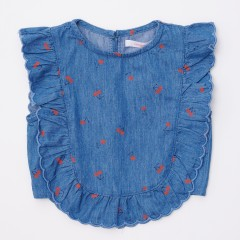 Gingersnaps Printed Cherry Frilly Blouse