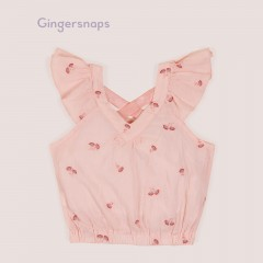Gingersnaps Embroidered Blouson Blouse
