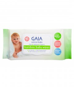 Gaia Natural Baby Wipes - 80 packs